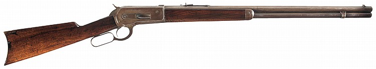 Winchester Model 1886 Lever Action Rifle in 45-90 Caliber