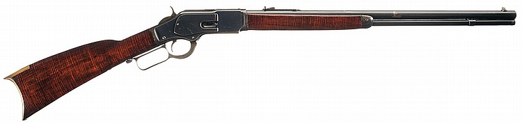 Unique Winchester Model 1873 Lever Action Rifle with Rare 23 Inch Barrel