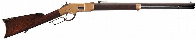 Scarce Early Production Winchester Model 1866 Lever Action Rifle with Henry Patent Barrel Address