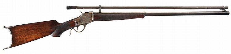 Antique Winchester Model 1885 High Wall Rifle with Scope