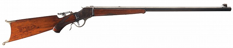 Scarce Winchester Model 1885 High Wall Semi-Deluxe Target Rifle with Swiss Buttplate in 22 Short