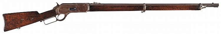 Documented, Rare Winchester Model 1876 Lever Action Musket with Factory Letter