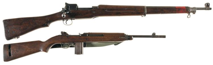 Collector's Lot of Two U.S. Military Winchester Long Arms -A) U.S. Winchester Model 1917 Bolt Action Rifle