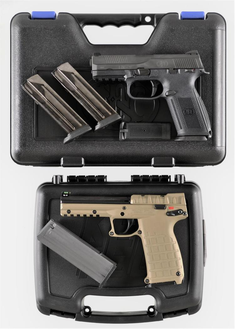 Two Semi-Automatic Pistols -A) Fabrique Nationale USA FNS 9 Pistol with Matching Case and Accessories