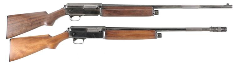 Two Winchester Semi-Automatic Shotguns -A) Winchester Model 1911 Shotgun