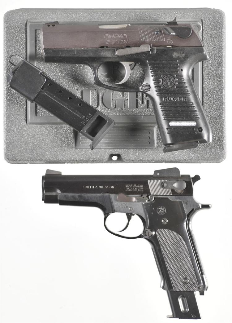 Two Semi-Automatic Pistols -A) Ruger Model P95DC Pistol with Accessories