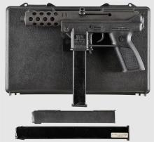 Intratec Arms Model TEC-DC9 Semi-Automatic Pistol with Case and Two Extra Magazines