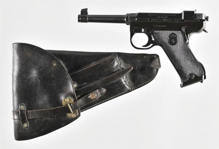 Swedish Husqvarna Lahti Model 40 Semi-Automatic Pistol with Holster and Accessories