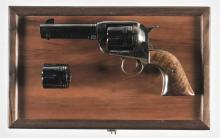 Inscribed Ruger Vaquero Single Action Revolver with Wood Case and Extra Cylinder