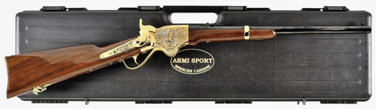 Armi Sport Spencer Carbine Robert Lee and Ulysses Grant Commemorative Carbine with Case