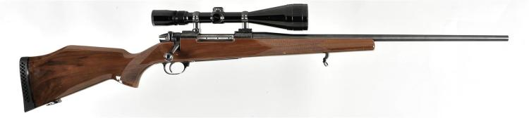 Weatherby Model Mark V Bolt Action Rifle with Scope