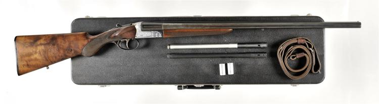 Engraved Beretta Model 410E Shotgun with Case and Accessories