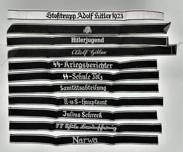 Group of 11 Nazi-Style Armbands