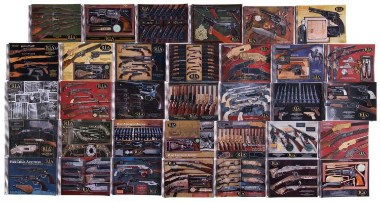 Fourteen sets of Rock Island Auction Company Catalogs