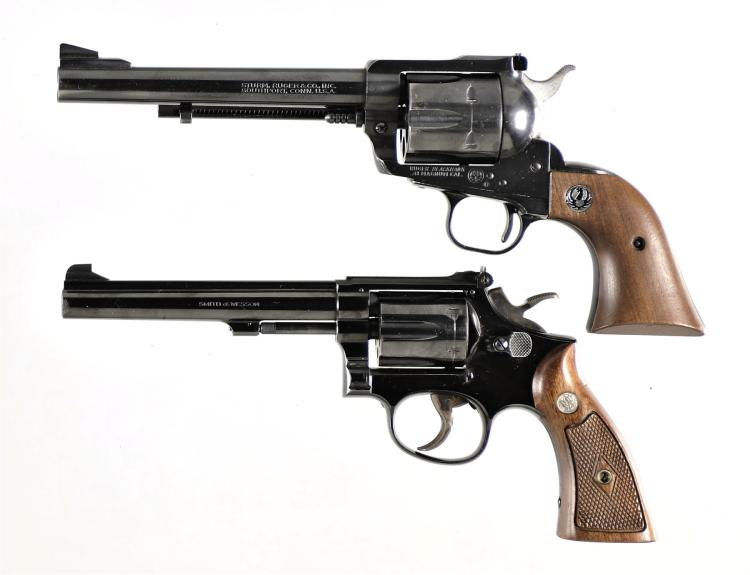 Two Revolvers -A) Ruger Blackhawk Single Action Revolver