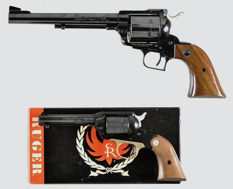 Two Single Action Revolvers -A) Ruger Old Model Super Blackhawk Revolver