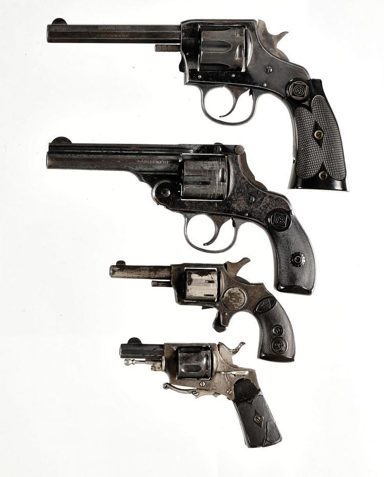 Four Revolvers -A) Harrington & Richardson Model 1904 Double Action Revolver
