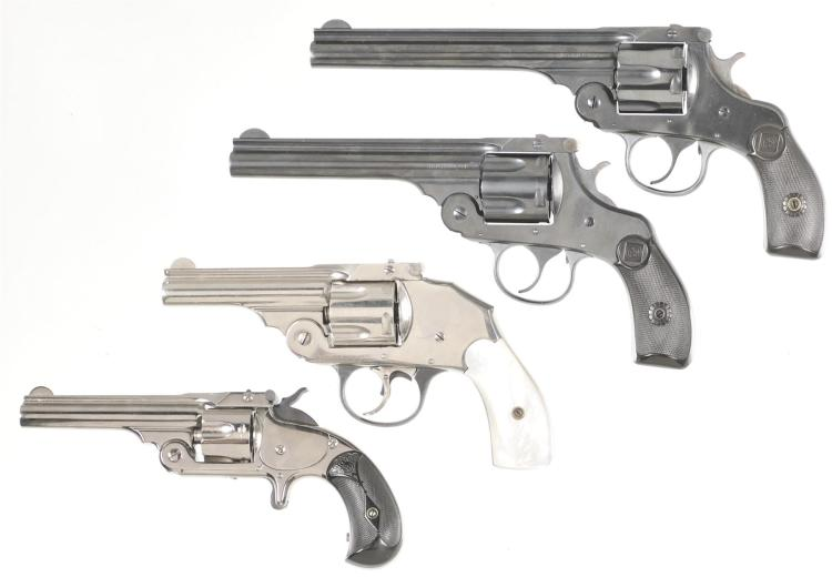 Four Revolvers -A) Harrington & Richardson Model 2 Top Break Double Action Revolver