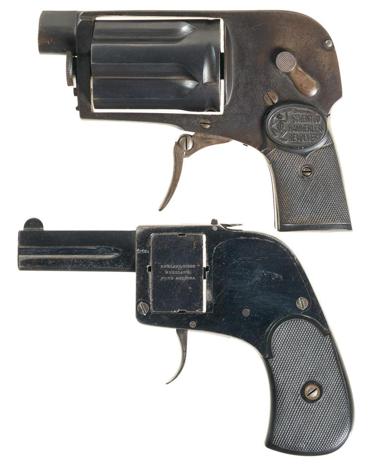 One Pistol and One Gas Gun -A) Belgian Scheintod Model 1912 Gas Cartridge Revolver