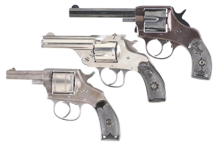 Three Double Action Revolvers -A) H&R The American Revolver
