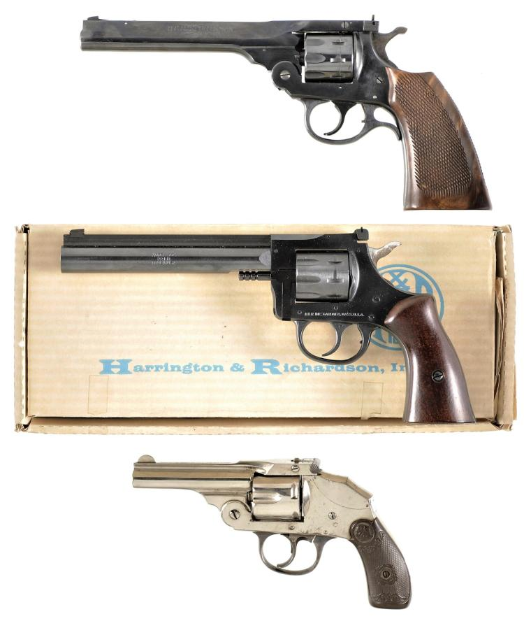 Three Double Action Revolvers -A) Harrington & Richardson Model Sportsman Revolver