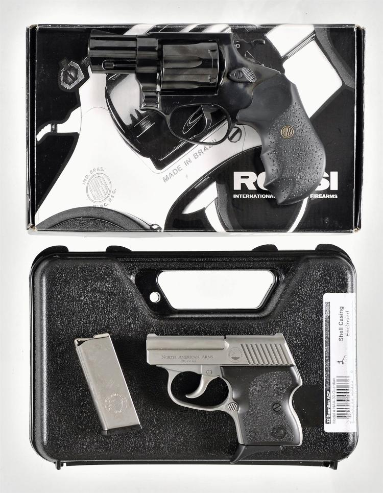 Two Handguns -A) Taurus Model 461 Double Action Revolver with Matching Rossi Box