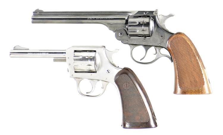 Two Harrington & Richardson Double Action Revolvers -A) Harrington & Richardson Sportsman Revolver