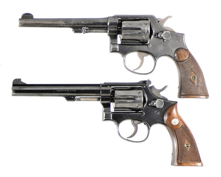 Two Smith & Wesson Double Action Revolvers -A) Smith & Wesson 32-20 Hand Ejector Model of 1905 Revolver