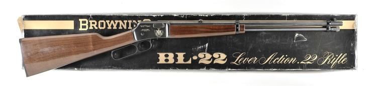 Browning Model BL-22 Grade 1 Utah Highway Patrol Commemorative Lever Action Rifle With Matching Box