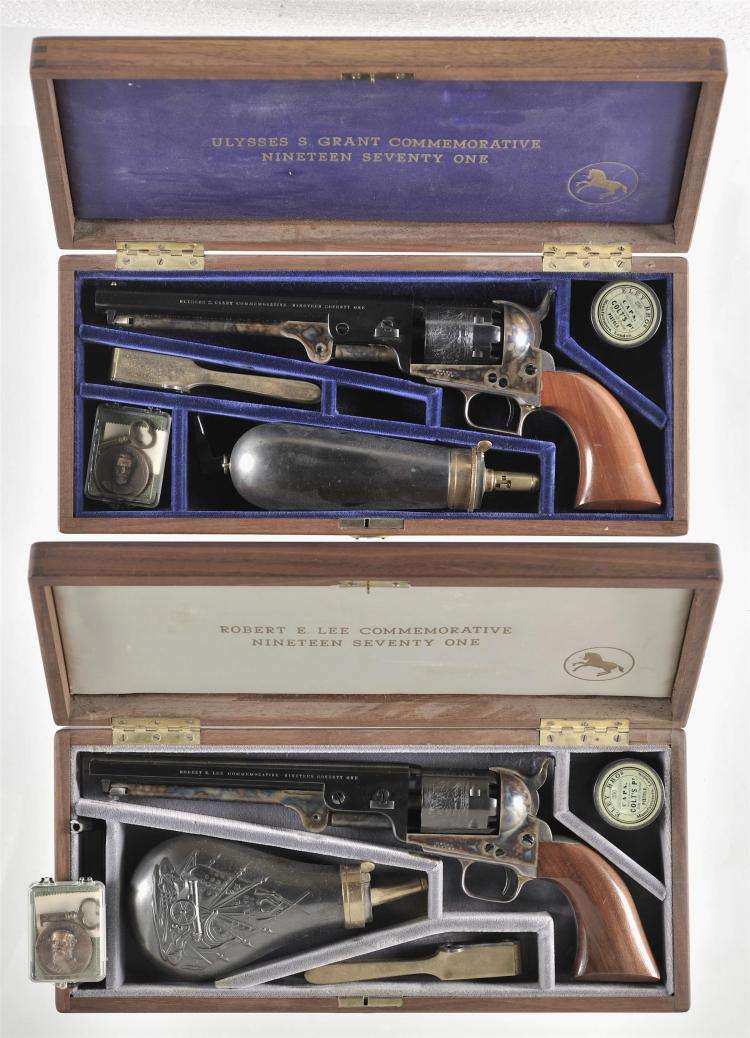 Two Colt Commemoratives Revolvers -A) Colt 1851 Navy Ulysses S. Grant Percussion Revolver with Wood Case and Accessories