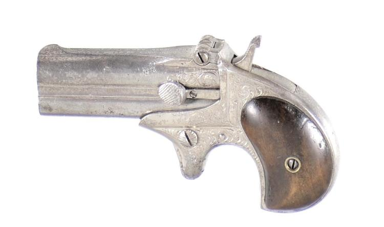 Butler Engraved Reproduction of a Remington Over/Under Derringer