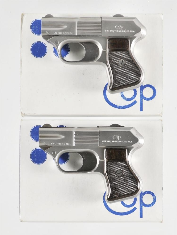 Two Double Action Derringers -A) COP Inc Model SS-1 Four Barrel Derringer with Case