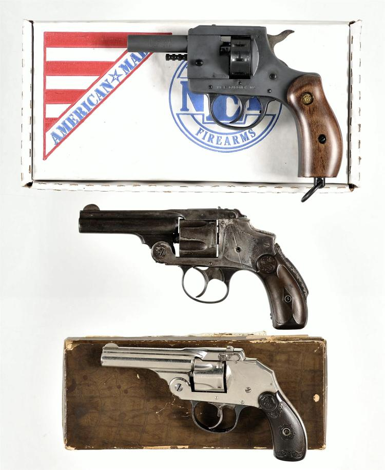 Three Double Action Revolvers -A) New England Firearms Model B22 Blank Revolver with Box and Manual