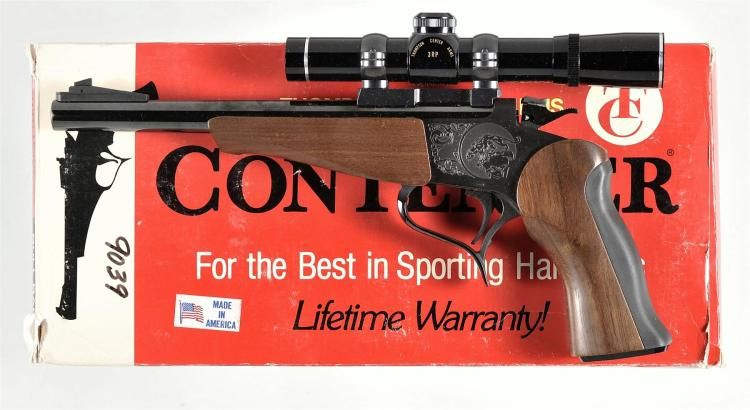 Thompson Center Contender Single Shot Pistol with Box and Scope