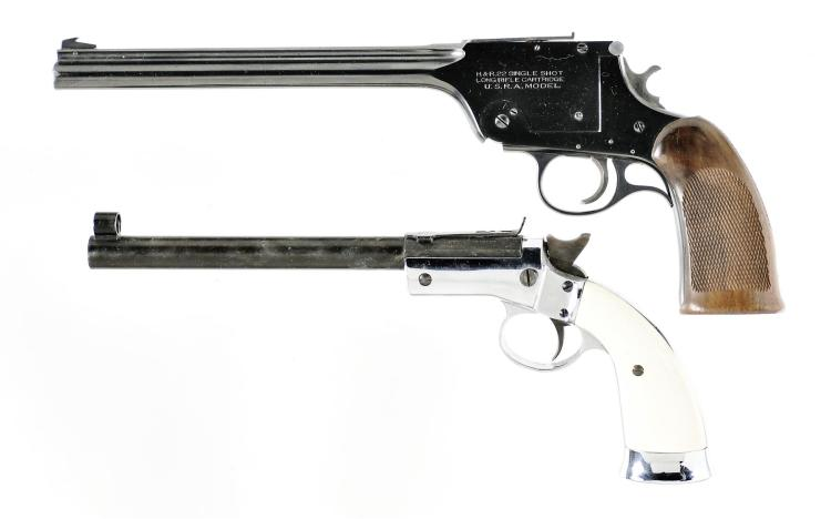 Two Single Shot Pistols -A) Harrington & Richardson .22 U.S.R.A./Model 195 Pistol