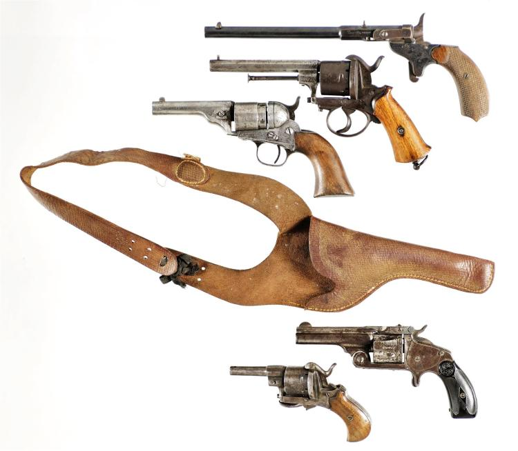 Five Antique Handguns -A) German