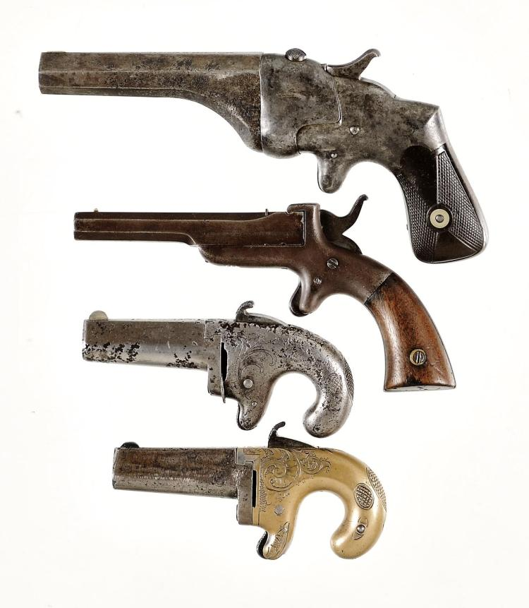 Four Single Shot Pistols -A) Connecticut Arms & Manufacturing Company