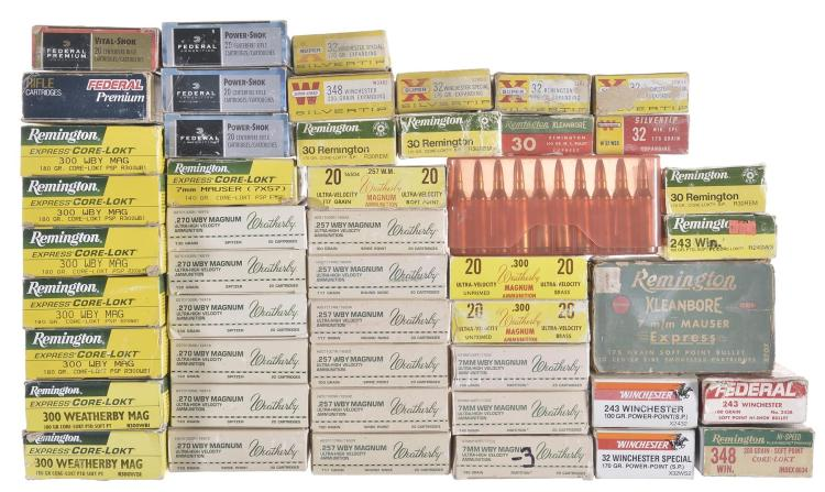 Forty Eight Boxes of Assorted Ammunition