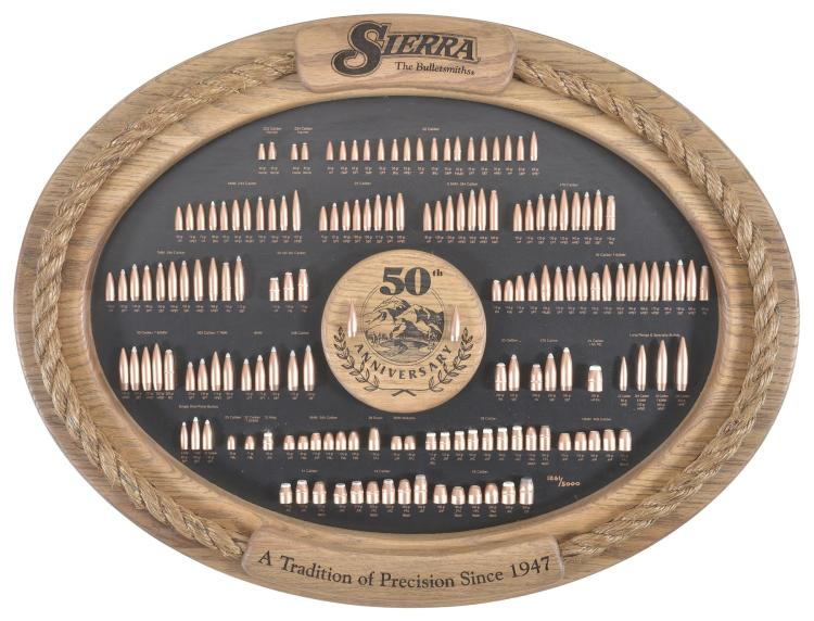 Sierra Bullets 50th Anniversary Display Board with Box