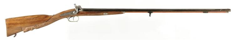 Engraved Belgian Reproduction Percussion Double Barrel shotgun