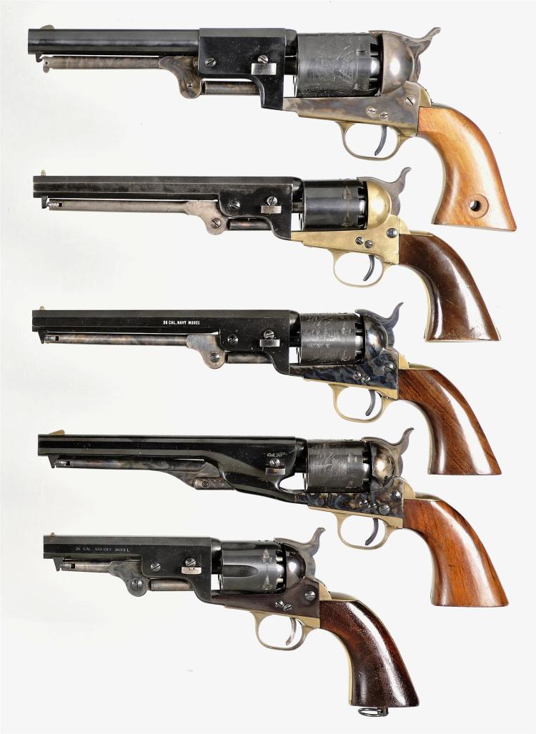 Five Italian Percussion Single Action Revolvers -A) Armi San Marco Third Model Dragoon Revolver