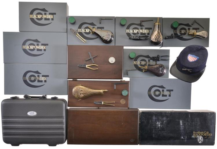 Group of Colt Black Powder Boxes Accessory Kits and Presentation Cases