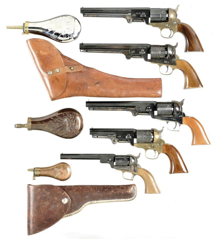 Five Italian Reproduction Percussion Revolvers -A) Replica Arms Model Griswold & Gunnison Revolver