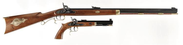 One Hand Gun and One Long Gun -A) Thompson Center Arms Percussion Rifle