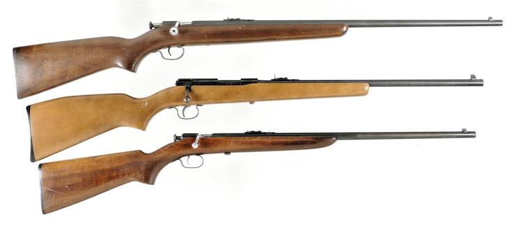 Three Winchester Single Shot Rifles -A) Winchester Model 67A Rifle