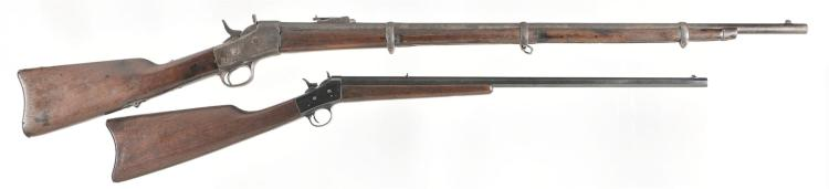 Two Single Shot Rifles -A) Unmarked Rolling Block Rifle