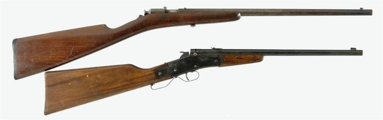 Two Single Shot Rifles -A) Winchester Thumb Trigger Rifle