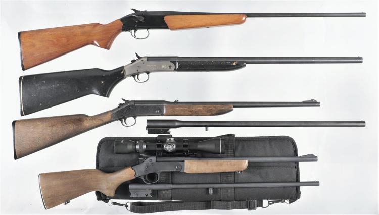 Four Single Shot Long Guns -A) Stevens Model 940E Shotgun