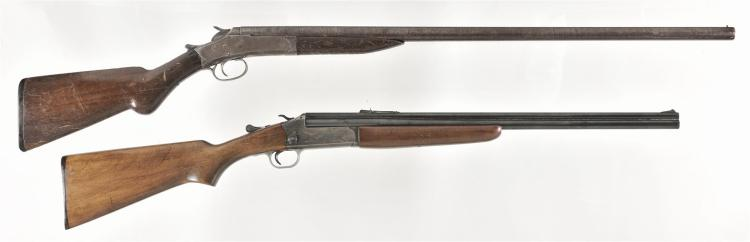 One Shotgun and One Combination Rifle -A) New York Arms Single Shot Shotgun