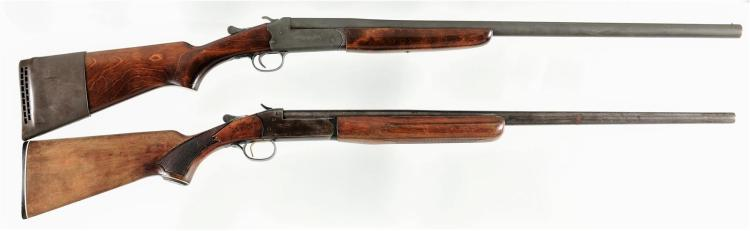 Two Single Barrel Shotguns -A) US Marked Stevens Model 94B Shotgun